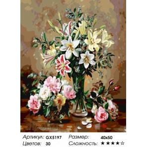 Количество цветов и сложность Нежные букеты Раскраска по номерам на холсте Menglei Z-GX5197