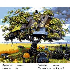 Количество цветов и сложность Дом на дереве Раскраска по номерам на холсте Menglei Z-GX3599