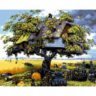 Дом на дереве Раскраска по номерам на холсте Menglei Z-GX3599