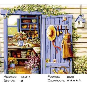 Количество цветов и сложность Дом садовода Раскраска по номерам на холсте Menglei Z-GX6117