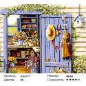 Дом садовода Раскраска по номерам на холсте