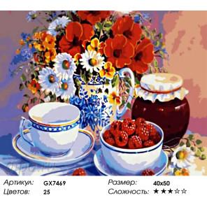 Количество цветов и сложность Малиновое варенье Раскраска по номерам на холсте Menglei Z-GX7469