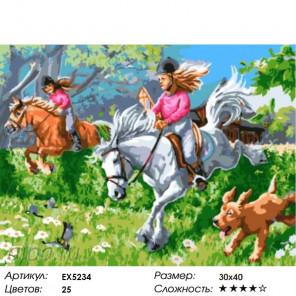 Количество цветов и сложность Лошадиные скачки Раскраска картина по номерам акриловыми красками на холсте Menglei Z-EX5234