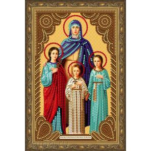 В рамке  Вера.Надежда.Любовь и Мать их София Алмазная частичная мозаика на подрамнике Color Kit IK015
