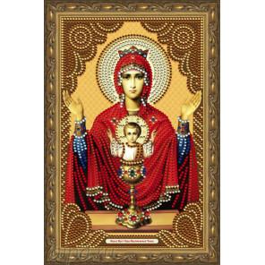 В рамке Образ Пресвятой Богородицы Неупиваемая Чаша Алмазная частичная мозаика на подрамнике Color Kit IK008