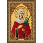 В рамке Святая Мученица Татьяна Алмазная частичная мозаика на подрамнике Color Kit IK010