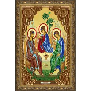 В рамке  Святая Троица Алмазная частичная мозаика на подрамнике Color Kit IK011