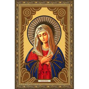 В рамке Умиление Пресвятой Богородицы Алмазная частичная мозаика на подрамнике Color Kit IK013