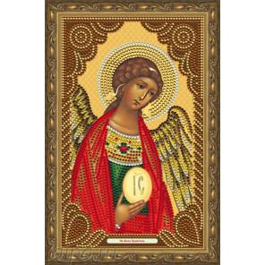 В рамке  Святой Ангел Хранитель Алмазная частичная мозаика на подрамнике Color Kit IK009