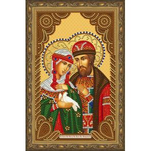 В рамке  Пётр и Феврония Муромские Алмазная частичная мозаика на подрамнике Color Kit IK016