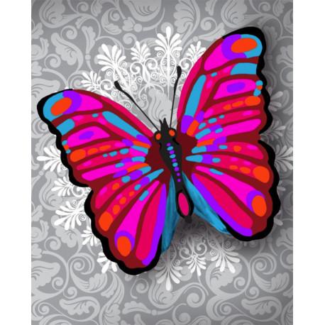 Чудо-бабочка Алмазная частичная вышивка (мозаика) Color Kit M016