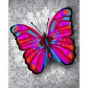 Чудо-бабочка Алмазная частичная вышивка (мозаика) Color Kit