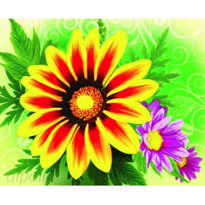 Цветочное настроение Алмазная частичная вышивка (мозаика) Color Kit M012