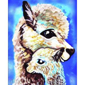 Мама и дитя Алмазная частичная вышивка (мозаика) Color Kit M015