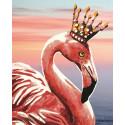Королевский фламинго Алмазная частичная вышивка (мозаика) Color Kit M001