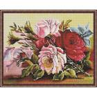 Красота цветов Алмазная мозаика на подрамнике KM013