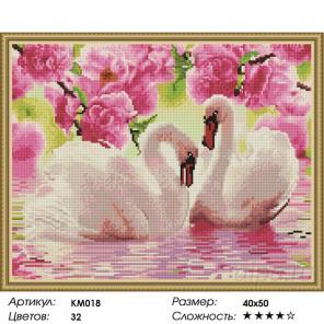 Розовая идиллия Алмазная мозаика на подрамнике