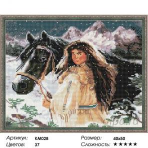 Количество цветов и сложность С другом в горах Алмазная мозаика на подрамнике KM028