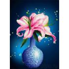 Розовые лилии Алмазная вышивка мозаика HS-8041