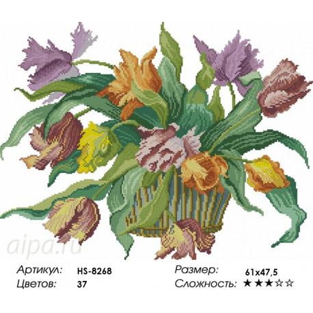 Количество цветов и сложность Голландские тюльпаны Алмазная вышивка мозаика HS-8268