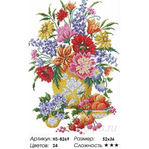 Количество цветов и сложность Букет и ягоды Алмазная вышивка мозаика HS-8269