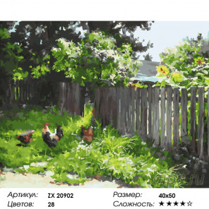 Количество цветов и сложность Загородный пейзаж Раскраска картина по номерам на холсте ZX 20902