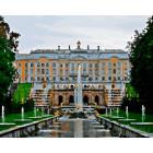 Большой Петергофский дворец. Санкт-Петербург Раскраска картина по номерам на холсте ZX 20788