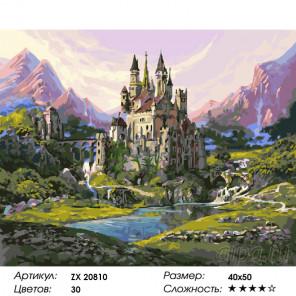 Количество цветов и сложность Горное царство Раскраска картина по номерам на холсте ZX 20810