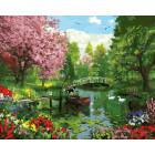 Парковый ансамбль Раскраска картина по номерам на холсте ZX 20811