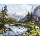 Гармония с природой Раскраска картина по номерам на холсте ZX 20820