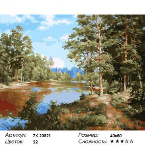 Сосновый лес Раскраска картина по номерам на холсте