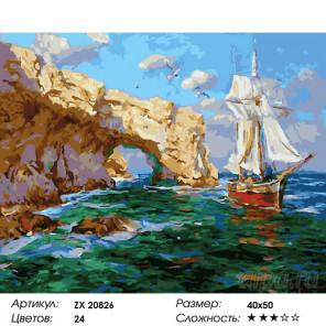 Количество цветов и сложность Солнечный Крым Раскраска картина по номерам на холсте ZX 20826