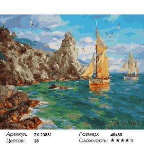 Количество цветов и сложность Крым летом Раскраска картина по номерам на холсте ZX 20831