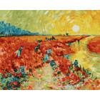Красные виноградники в Арлед. Ван Гог Раскраска картина по номерам на холсте ZX 20890