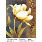 """Количество цветов и сложность H-4225 """"Белые тюльпаны 2"""" мозаика H-4225"""