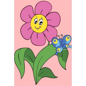 Цветочек Раскраска мини по номерам