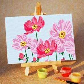 Цветочное настроение Раскраска мини по номерам