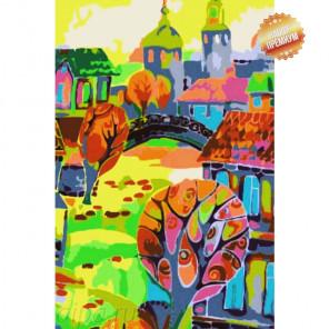 Сказочный город Раскраска картина по номерам на холсте