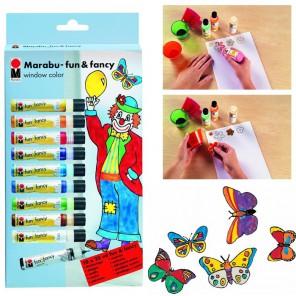 Клоун Витражные краски Набор для рисования 040600072 Marabu
