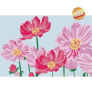 Премиум набор Розовые цветыРаскраска картина по номерам на холсте MC126