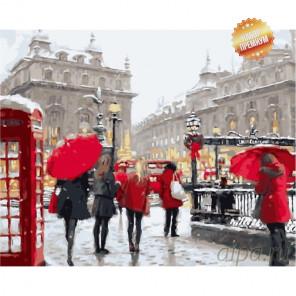 Количество цветов и сложность Снег в Лондоне Раскраска картина по номерам на холсте MG6034