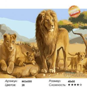 Количество цветов и сложность Царский прайд Раскраска картина по номерам на холсте MG6050