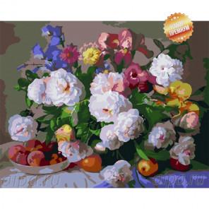 Количество цветов и сложность Летнее разноцветие Раскраска картина по номерам на холсте MG281