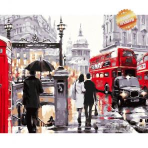 Количество цветов и сложность Лондонский дождь  Раскраска картина по номерам на холсте MG6608