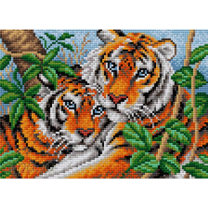 Братья тигры Алмазная мозаика на магнитной основе