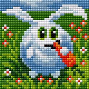 Довольный кролик Алмазная мозаика на магнитной основе