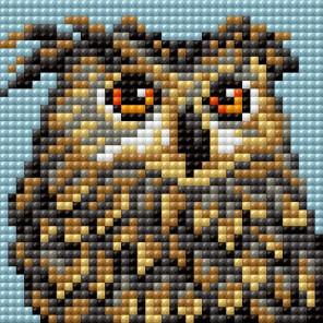 Зоркая сова Алмазная мозаика на магнитной основе