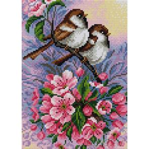 Дружные птички Алмазная мозаика на магнитной основе