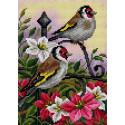 Птицы в саду Алмазная мозаика на магнитной основе