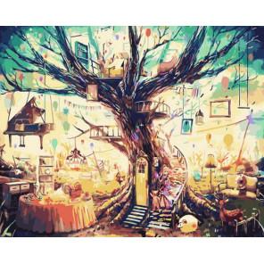 Сказочное дерево  Раскраска картина по номерам на холсте Z-GX3507